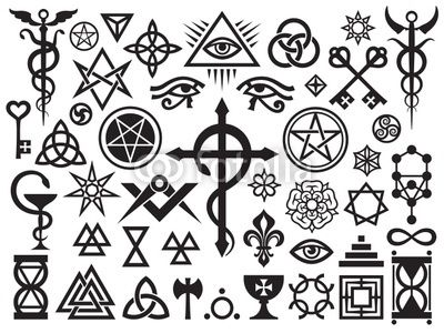 Medieval Occult Signs And Magic Stamps, Locks, Knots de Foto Flare, Fichier vectoriel libre de droits #31605619 sur Fotolia.com