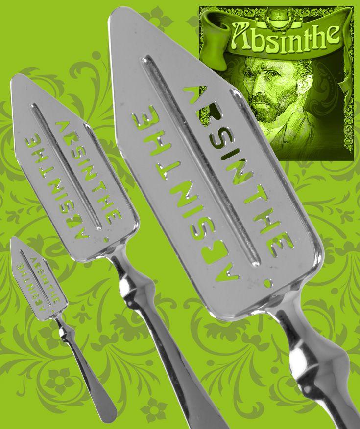 Populär absintsked i förkromat stål