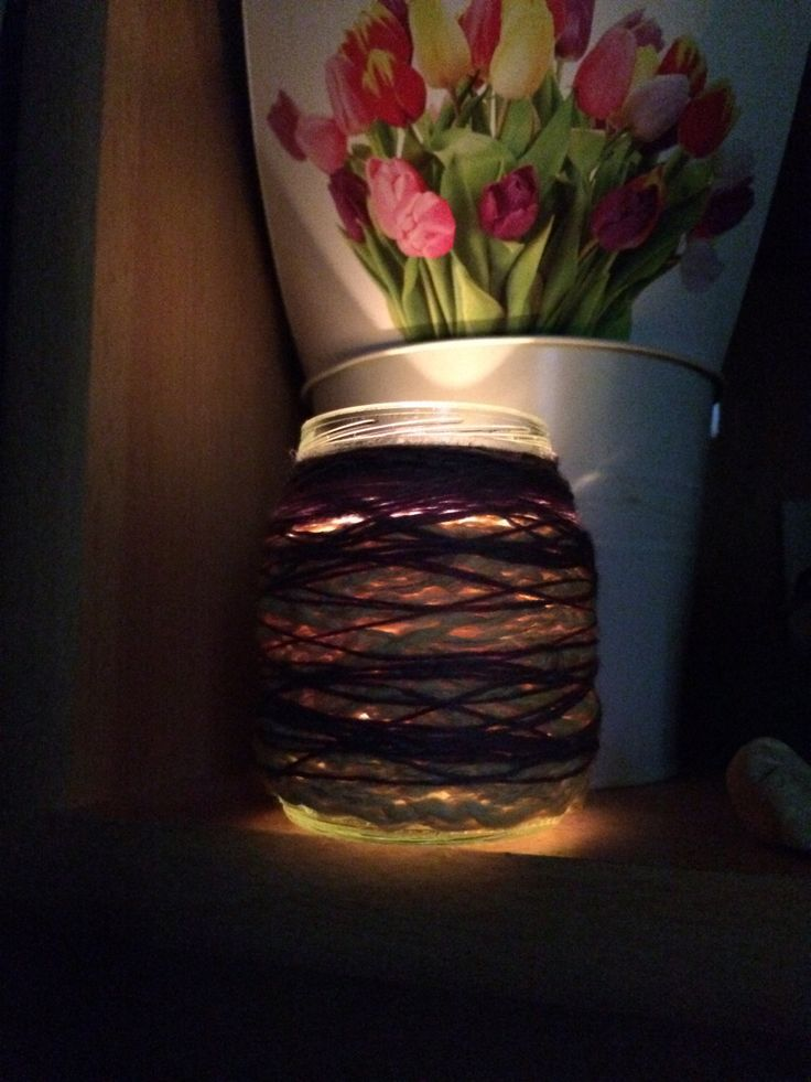 "pretty tea light glass ""Fairylight"" by GerlyRose on Etsy"