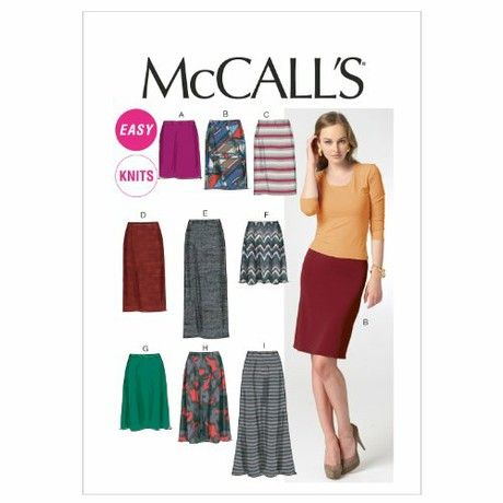 McCall's Patterns M6654 Size A5 6-8-10-12-14 Misses' Skirts in 7 Lengths, Pack of 1, White