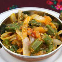 パリワール インド料理レストラン オクラのカレー/Bindhi Masala