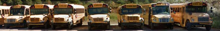 Cherokee County Schools (North Carolina Public Schools) buses; Murphy High School - Murphy, North Carolina