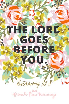 French Press Mornings - Deuteronomy 31:8
