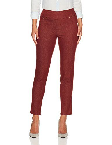 87159504f77 Ruby Rd Womens Petite Pullon Colored Extra Stretch Denim Pant Burgundy 14P    Be sure to check out this awesome product. (This is an affiliate link)    ...