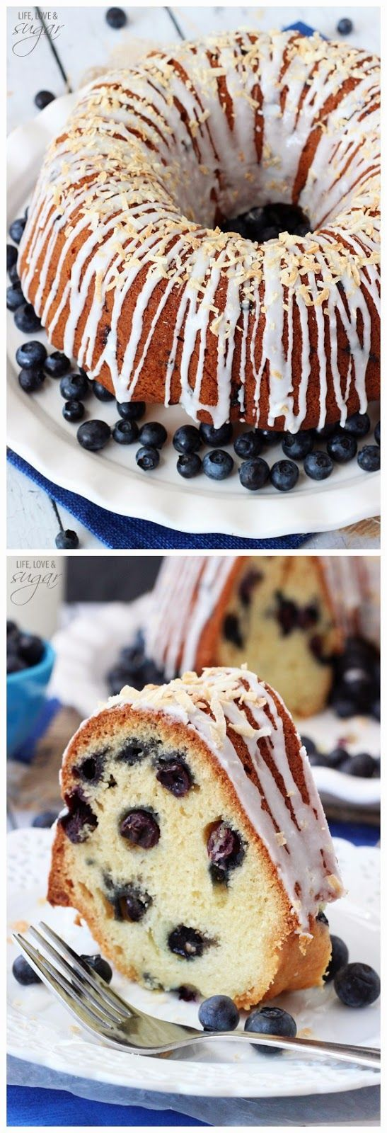 Blueberry Coconut Bundt Cake