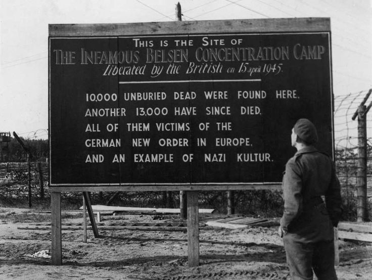 April 15,  1945: BRITISH ARMY LIBERATES NAZI CONCENTRATION CAMP BERGEN-BELSEN  -    During World War II, British and Canadian troops liberate the Nazi concentration camp Bergen-Belsen.