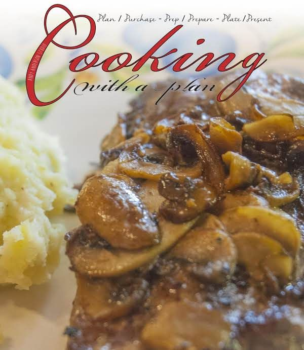 Awesome Oven Baked Rib Eye Steak Recipe.  Added some wine to the mushrooms so they fry, not cook