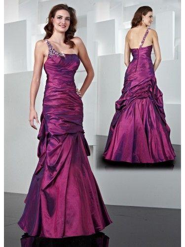 Formal Dresses Purple Taffeta