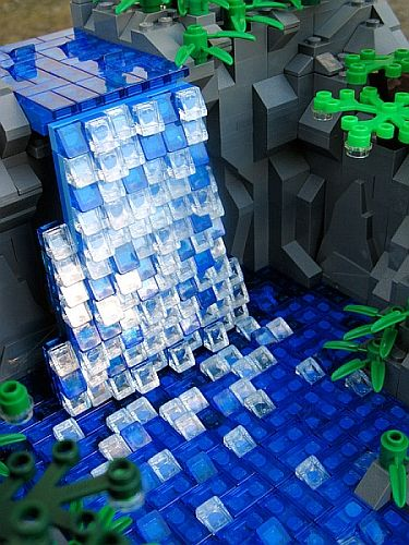 LEGO Water - Waterfall Landscape by Thoy Bradley