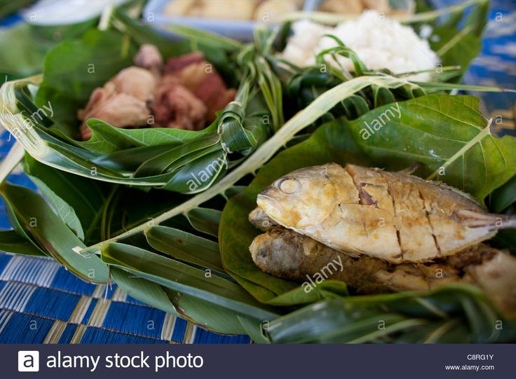 Fish Meal On Tuvalu, Island In The Pacific Stock Photo, Royalty Free Image: 39855479 - Alamy