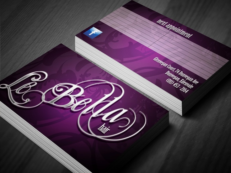 La Bella Hair Business Card Design