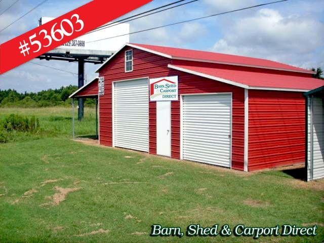 Direct Metal Carports : Storage shed with carport sheds barn carpot