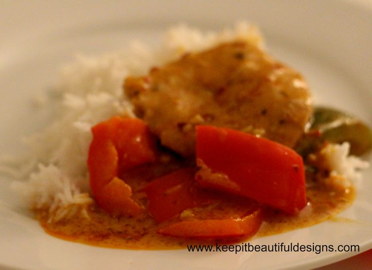 Amazing Red Thai Curry with Pork. Using Blue Dragon Sauce. Delicious!