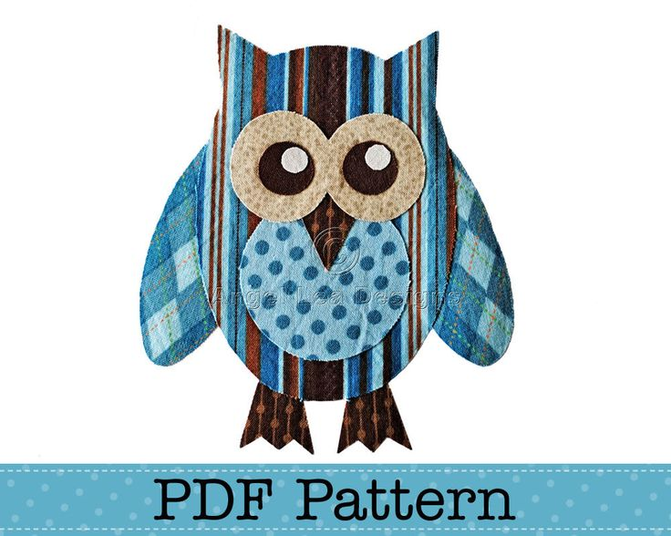 Owl Applique Template, Bird, Animal, Owl on Branch, Valentine Owl, DIY, Children, PDF Pattern by Angel Lea Designs by AngelLeaDesigns on Etsy https://www.etsy.com/uk/listing/61849387/owl-applique-template-bird-animal-owl-on