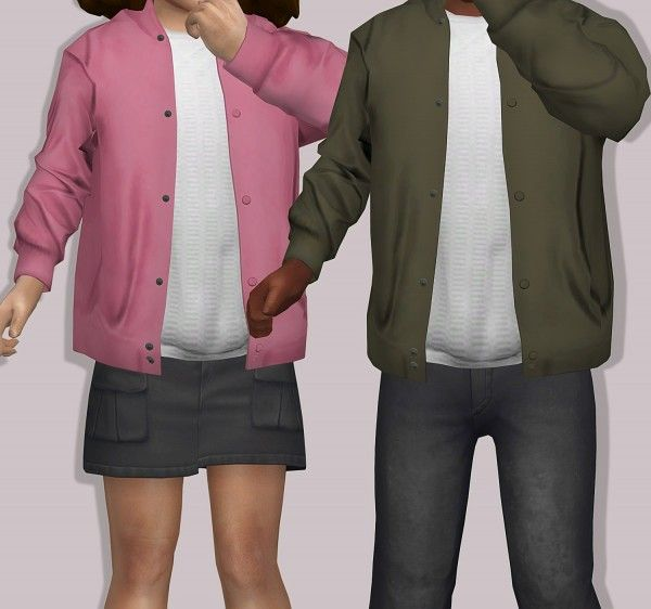 LumySims: Semller Silk Bomber Jacket for Toddlers • Sims 4 Downloads