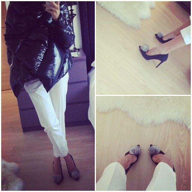 Grey suede tassel stiletto & winter time