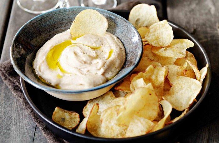 Krämig böndipp med chips