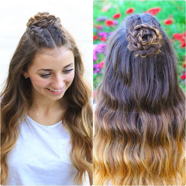 Tonight's tutorial on YouTube is Brooklyn's homecoming hair, the #CGHHalfUpRosette! {Tag 2 friends you want to learn this with you! } Link to the how-to video is in our profile!