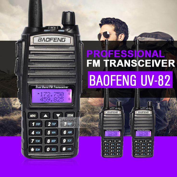 2pcs/lot BaoFeng UV-82 Handheld Walkie Talkie Dual Band Two Way Radio BF CB Radio Communicator Portable Ham Radio Transceiver