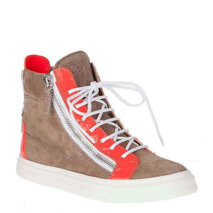 Giuseppe Zanotti Men's High Top Sneakers In Light Brown  http://www.takemegohome
