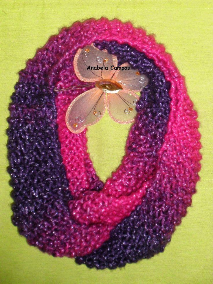 Rendas da Mãe: Gola, Caneleiras e laço em tricot