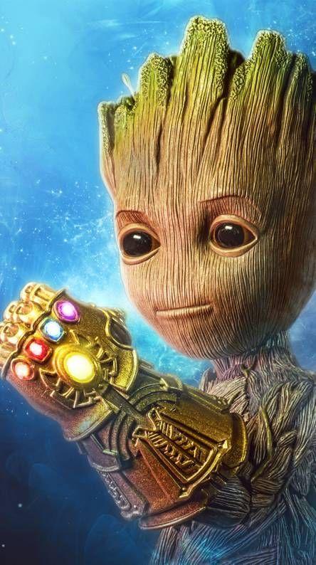 Wallpaper Baby Groot Fondo De Pantalla De Avengers Thanos