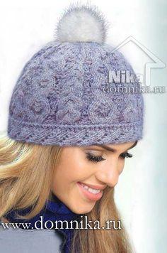 Вязание спицами шапки с косами