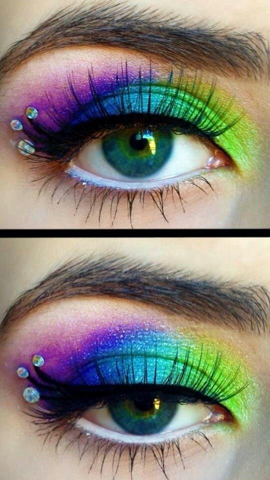 Rainbow with jewels
