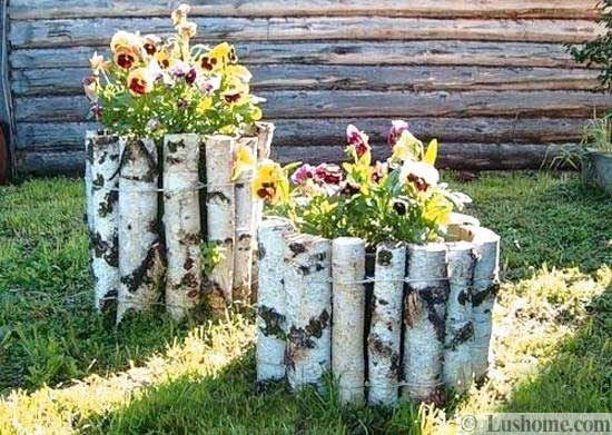 yard decorations, beautiful centerpieces for backyard designs. Easy DYI project idea.