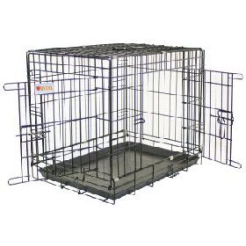 Aus der Kategorie Zwinger  gibt es, zum Preis von EUR 114,92  <p>The Vital Dog Crate   Tray provides puppies with a safe and secure place to sleep at night, and is perfect for training or for use in the car. </p><p>The dog crate is a good alternative to keeping dogs in kennels during the night, allowing them to remain in the house within a controlled space. </p><p>The Vital dog crate folds flat for convenient storage, with a durable plastic base tray which is easy to wipe clean and black…
