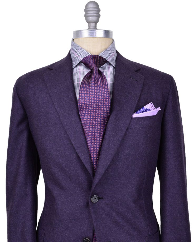 Brioni purple wedding suit
