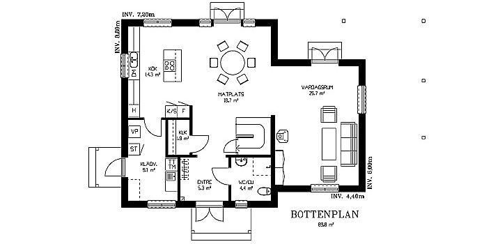2-planshus | Våra hus