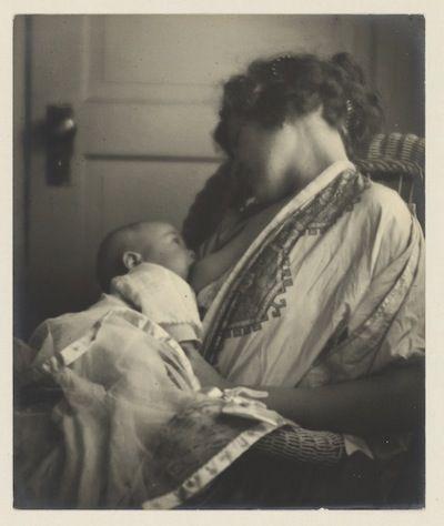 Mother Breast-feeding her Baby, byLouis Fleckenstein, c. 1900.  Platinum print, 301 x 251 mm. Amsterdam, Rijksmuseum.