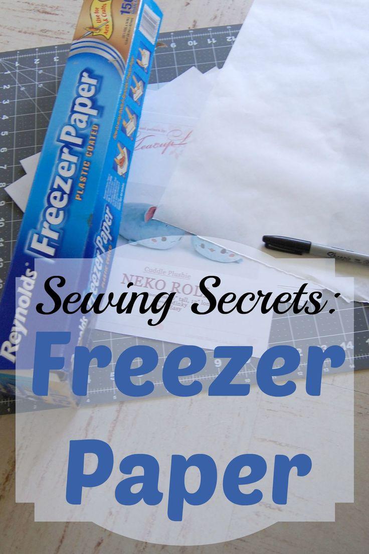 freezer paper vs wax paper