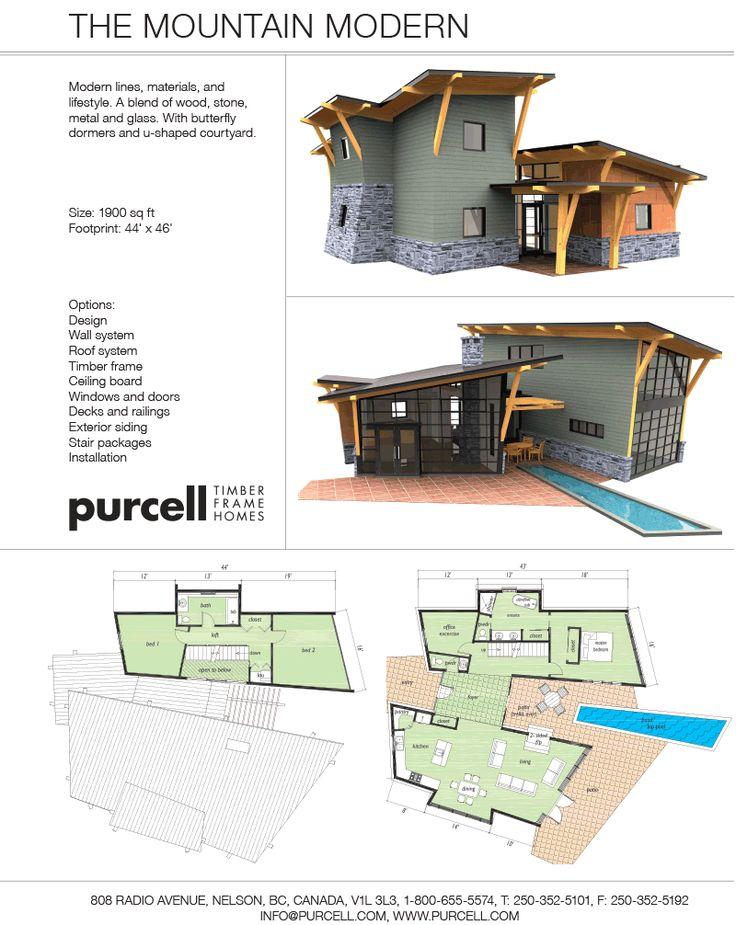 Purcell Timber Frames The Mountain Modern Prefab Full
