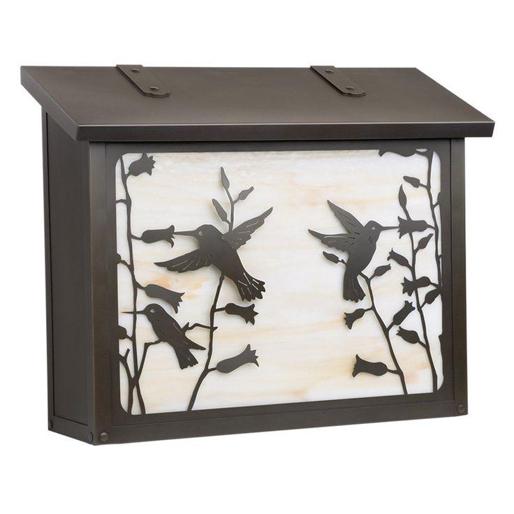 Americas Finest Lighting Hummingbird Large Mailbox Gold Iridescent - AF-633-NV-GI