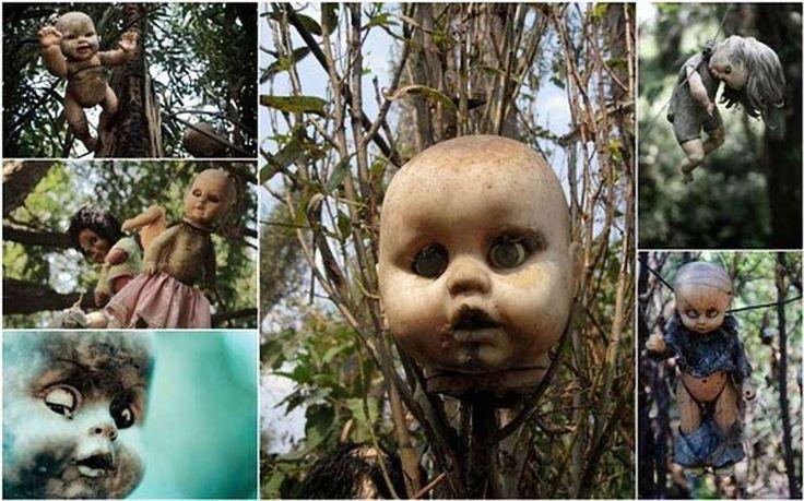 Uma menina morreu afogada, ao tentar capturar sua boneca. Um homem pôs bonecas na floresta como home... - All rights reserved