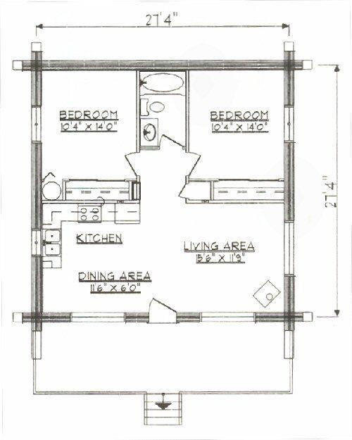 Log Home Floor Plan Under 1000 Square Feet Sq Ft Small House Plans Under 1000 Small House Floor Plans Tiny House Floor Plans Small Cottage Plans