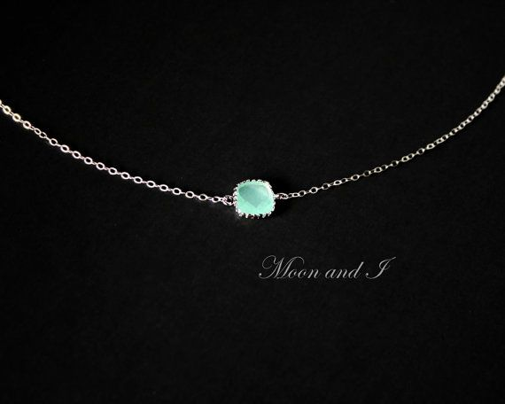 Hey, I found this really awesome Etsy listing at https://www.etsy.com/listing/200896019/petite-teal-necklace-sterling-silver