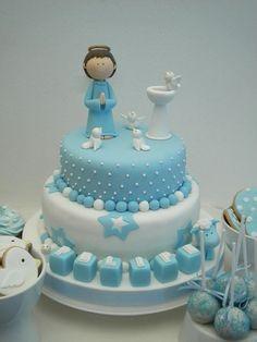 tortas bautizo varon - Buscar con Google