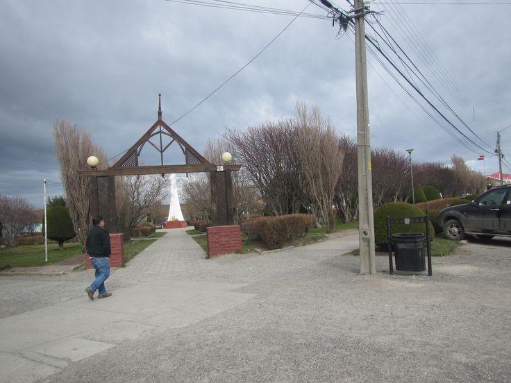 Plaza de Armas de Porvenir. Tierra del Fuego. XII Región de Magallanes. Chile.