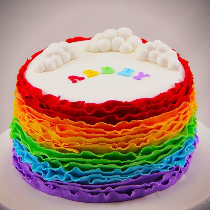 30 best Rainbow Cakes images on Pinterest Cakes Amazing cakes
