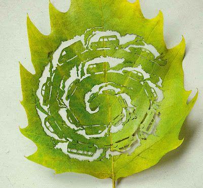 Poésie sur feuilles