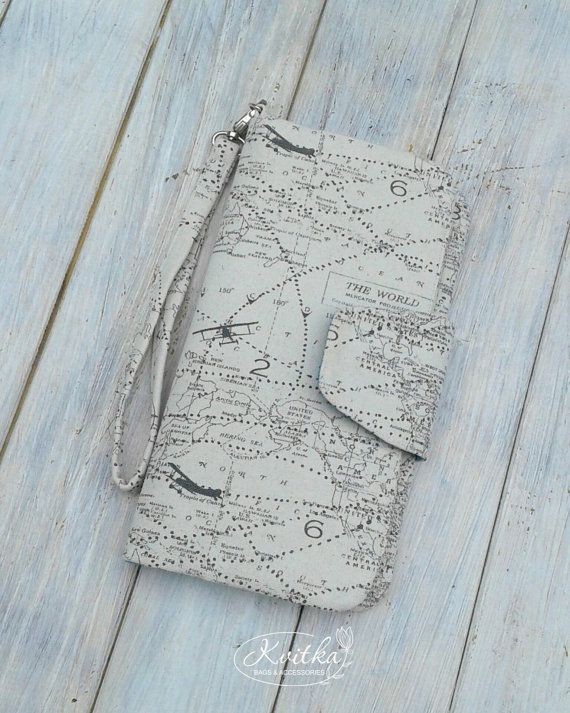 This travel wallet made from 100% cotton fabric and ideally fits all your documents in the trip. It could be used as family passport holder, also it