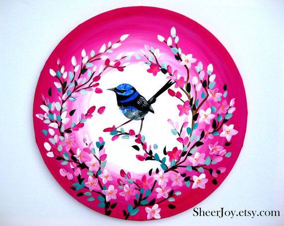 bird paintings paintings of birds original by SheerJoy on Etsy