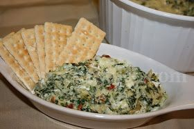 Classic spinach and artichoke dip, made with spinach, cream cheese, mayonnaise, Monterey Jack cheese, Knorr vegetable recipe mix, garlic and canned artichokes, is always a crowd pleaser for any gathering.