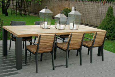 Stół Cortona Borek, fotele obiadowe Merano