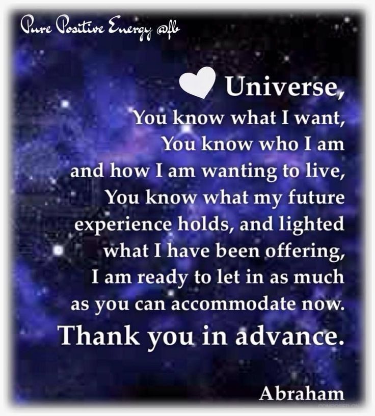 Thank you in Advance...Abraham-Hicks