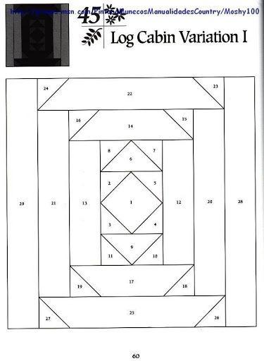 We love this Log Cabin Quilt Block variation! Make your log cabin quilts unique.