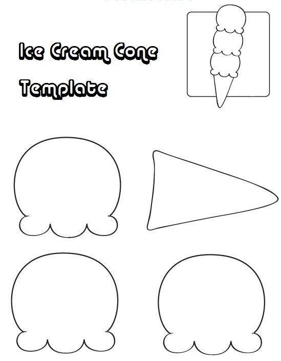 Free Printable Ice Cream Template